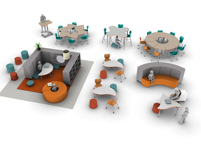 Effective classroom furniture that supports emotional processing