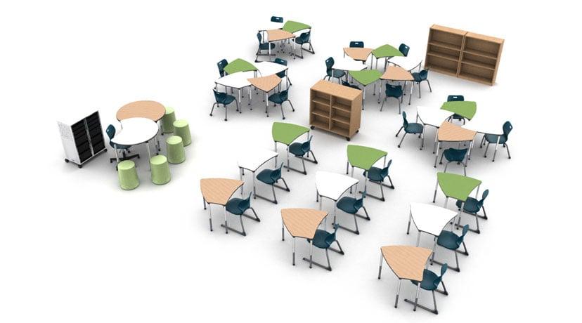Alphabet-Shape-Desks