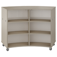 Double Face Radius Cabinet