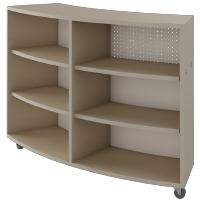Single-face-radius-cabinet